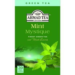 Ahmad Mint Mystique Flavoured Green Tea with Mint Leaves 20 Foil T/B
