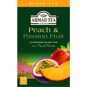 Ahmad Peach & Passion Fruit Flavored Black Tea 20 Tea Bags 1.4 oz.
