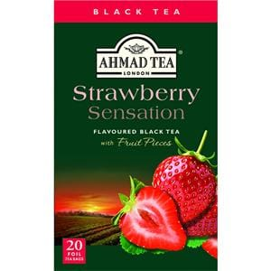 Ahmad Strawberry Sensation Flavored Black Tea 20 Tea Bags 1.4 oz.