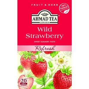 Ahmad Wild Strawberry 20 Foil Tea Bags 1.4 oz.