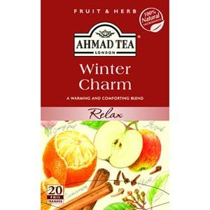 Ahmad Winter Charm Relaxing Tea 20 Foil Bags 1.4 oz.