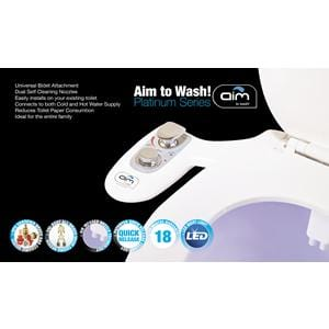 Aim to Wash Automatic Bidet with Hot Water & Night Light