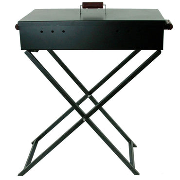 Foldable Outdoor Charcoal Barbecue, Black