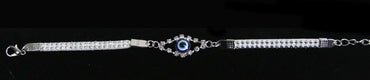 White Blue Eye Bracelet