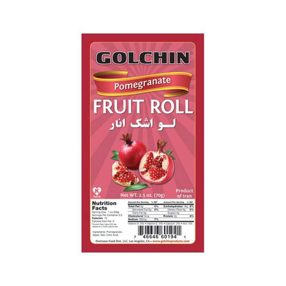 GOLCHIN ANNAR FRUIT ROLLS (POMEGRANATE)