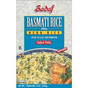 Sadaf Basmati Rice Mix Herb Rice - Sabzi Polo