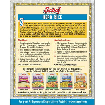 Sadaf Basmati Rice Mix Herb Rice Sabzi Polo
