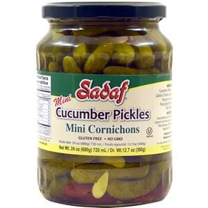 Sadaf Cucumbers Pickles- Mini Cornichons