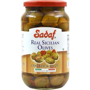 Sadaf Real Sicilian Olives - Cracked & Spicy