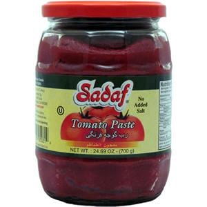 Sadaf Tomato Paste Jar - No Salt Added