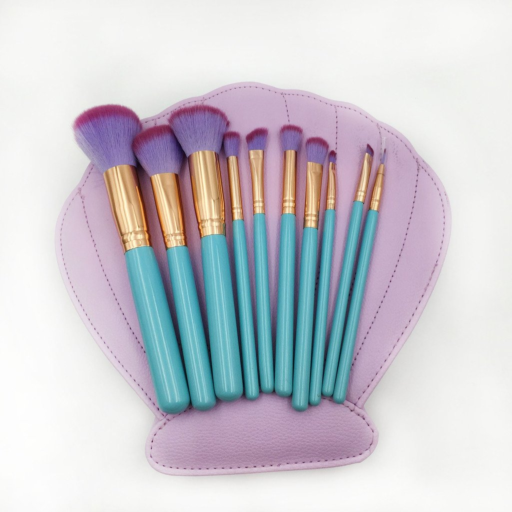 Mermaid Clam Shell Makeup Brush Set - emilyalexandracosmetics