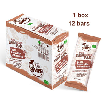 12 Bar Box - Energy Bar Cаcаo, Cаcаo nibs & Hazelnuts
