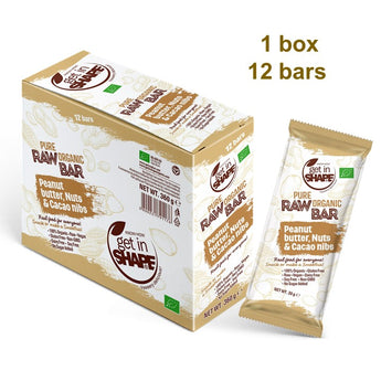 12 Bar Box - Energy Bar Peanut Butter, Nuts & Cаcаo Nibs