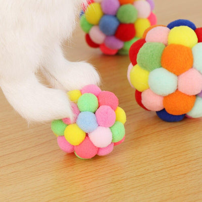 1PC Colorful Funny Pet Cat Toy Handmade Bells - Tactical Tricks
