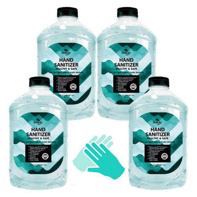 FDA Approved Hand Sanitizer Half a Gallon Pack of 4 (256 oz) - Tactical Tricks
