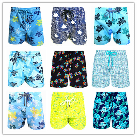 2020 Brand Brevile pullquin Beach Board Shorts Men Turtles Swimwear 100% Quick Dry Bermuda Mens Bathing Shorts Sexy Boardshorts