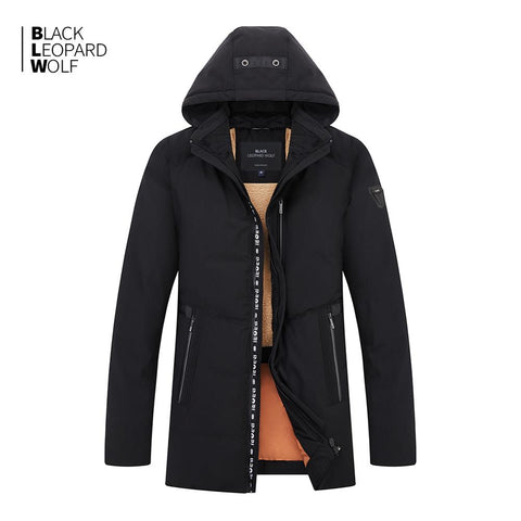 Blackleopardwolf 2019 new arrival winter jacket men thick cotton high quality classic style top balck color down jacket men B992
