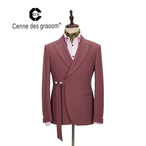 2020 Cenne Des Graoom New Men Suit Two Pieces Slim Fit High Quality Wedding Singer Drama Stage Costume Party Prom DG-ATM
