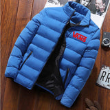 HOT High-quality men's printed down jacket warm and thick brand men's winter jacket design men's coat parka hoodie