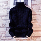 2020 New Men's Thick Turtleneck Sweater Pullovers Male Autumn Winter Solid Color High Neck Knitted Sweaters Knitwear M-3XL
