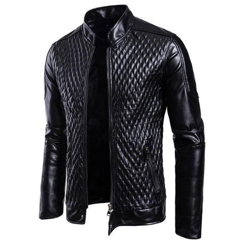 Fashion men leather jacket Spring autumn Casual PU coat mens motorcycle leather jacket New Male Solid color slim outerwear S-3XL