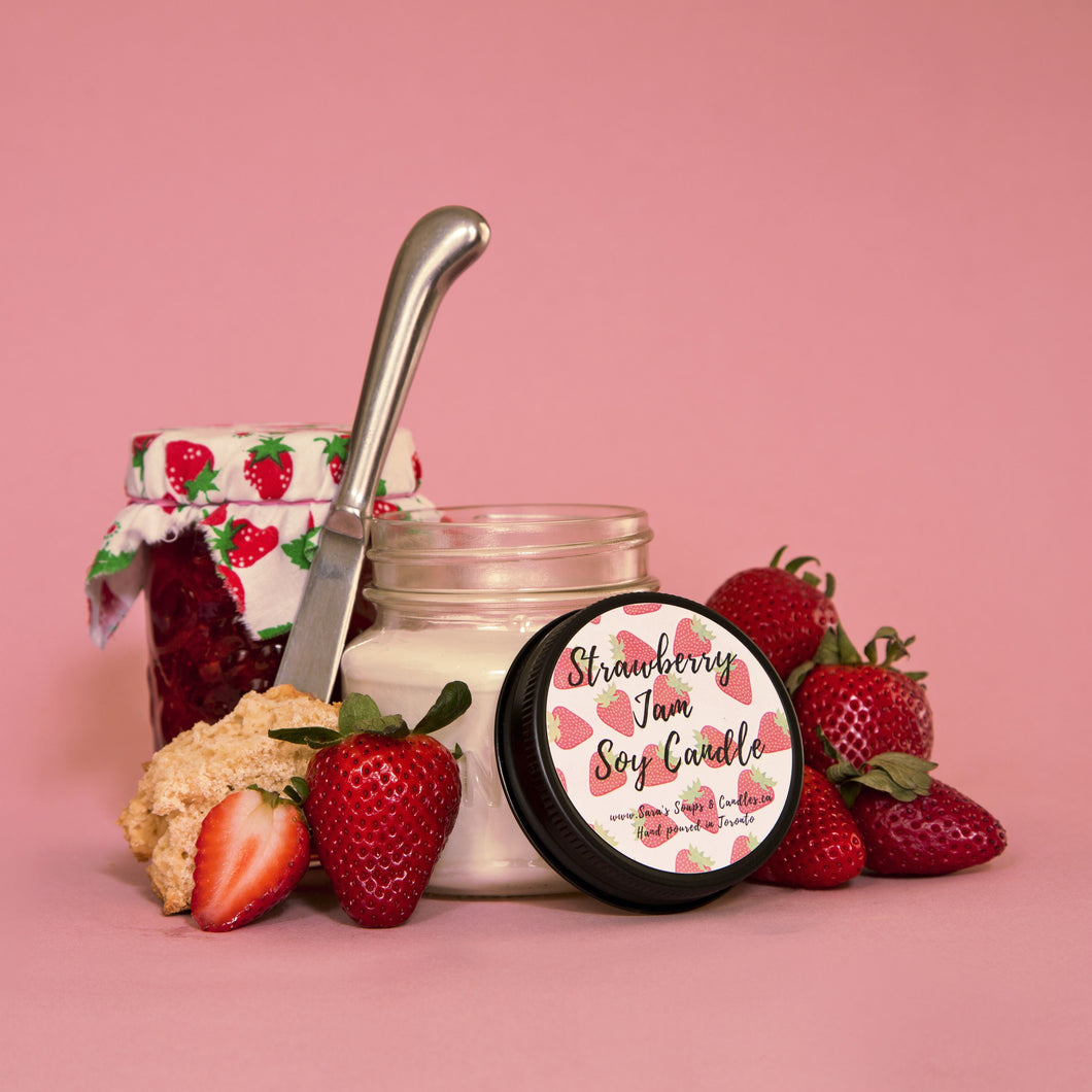 Strawberry jam candle- 7oz