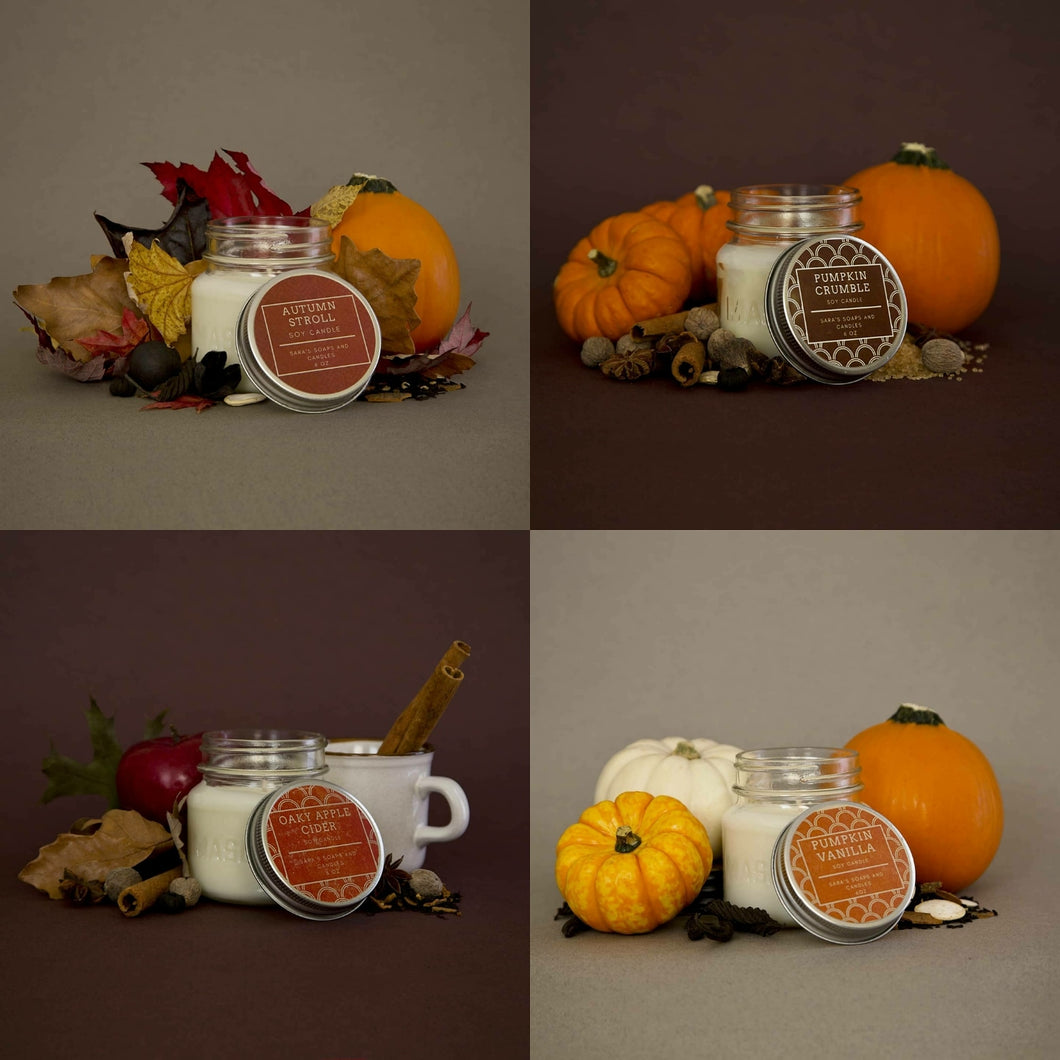 Autumn Collection: Set of 4 : 7.5 oz candle