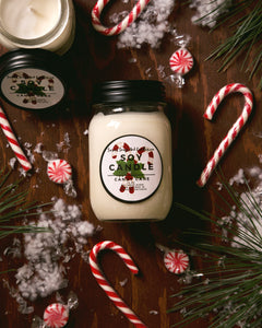 Candy Cane Candle - 14oz