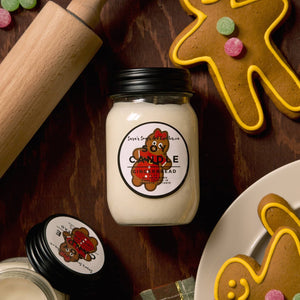 Gingerbread Candle - Large