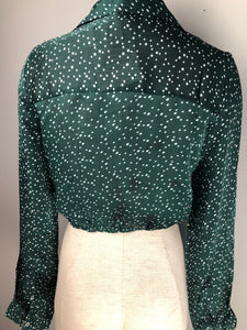 Dotted Twist Knot Crop Top