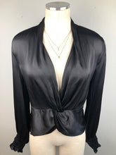Load image into Gallery viewer, Front Twist Satin Top