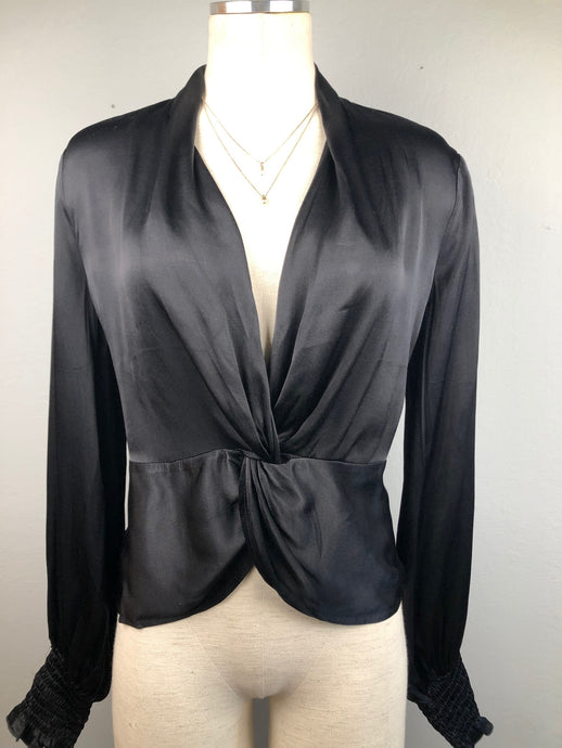 Front Twist Satin Top
