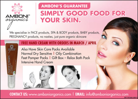 Newspaper advert Amboni Organics