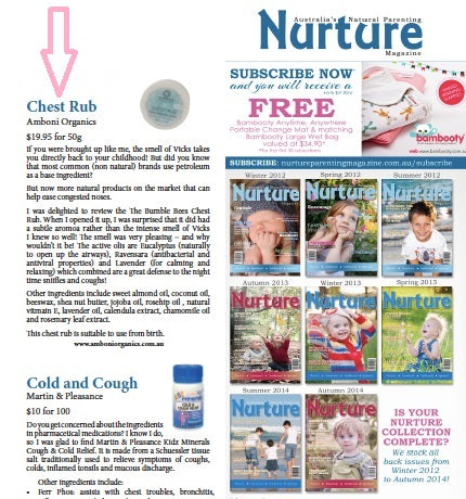Amboni Organics Chest Rub editorial Nurture Magazine