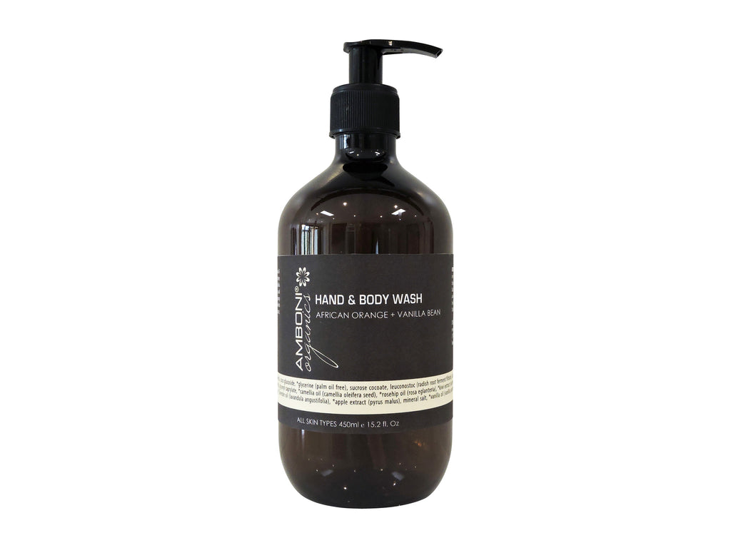 Hand + Body Wash - African Orange + Vanilla Bean 450ml