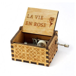"""La Vie En Rose"" Handcrafted Music Box"