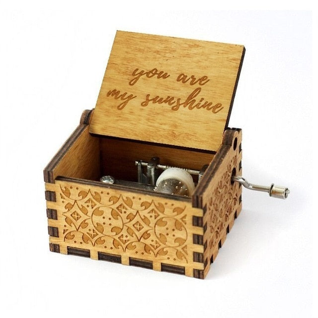 """You Are My Sunshine"" Handcrafted Music Box"