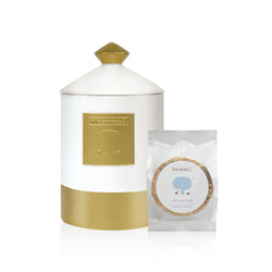 Balancing Shower Aroma Collection in a Luxurious Ceramic Jar