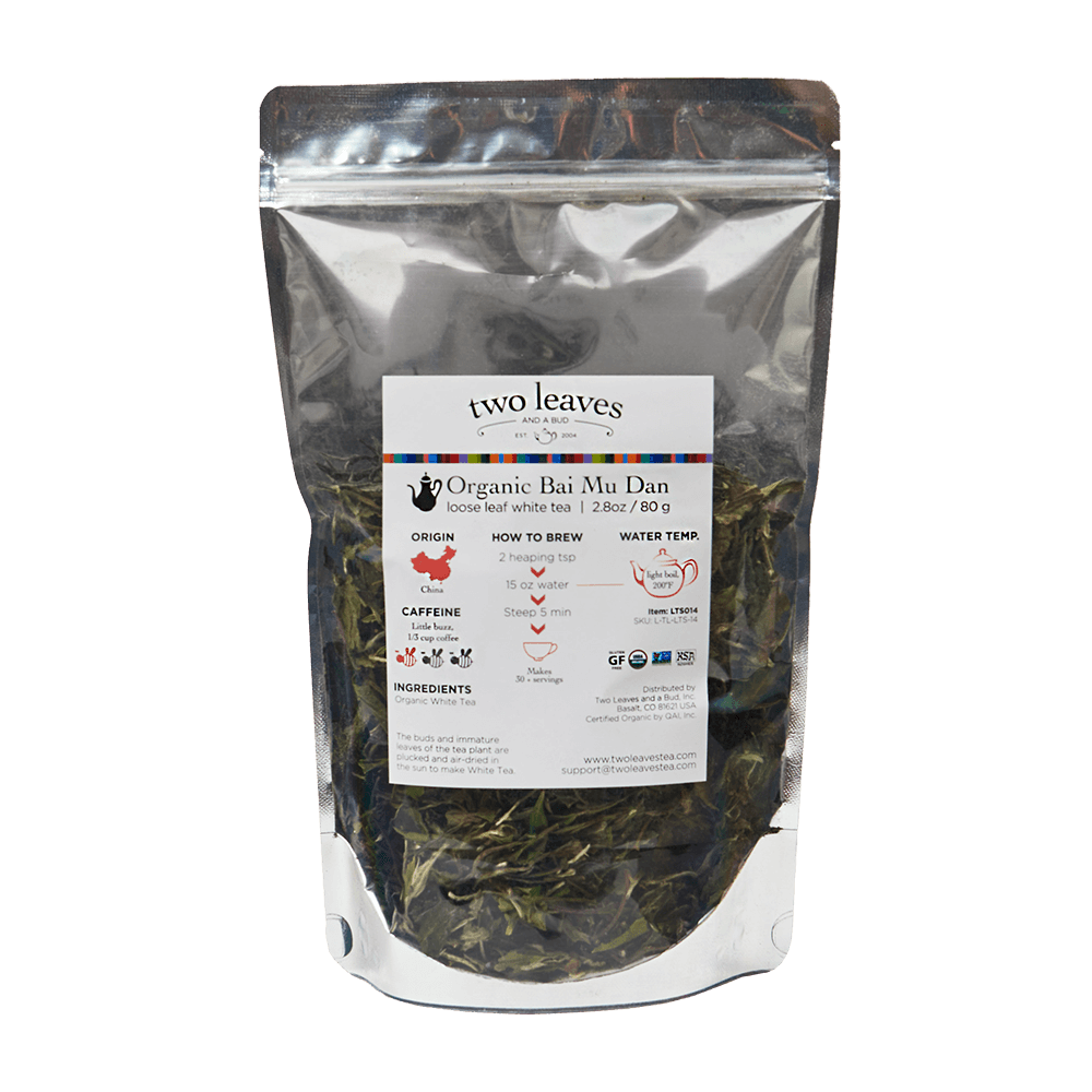 Organic Bai Mu Dan Loose Tea Sleeve