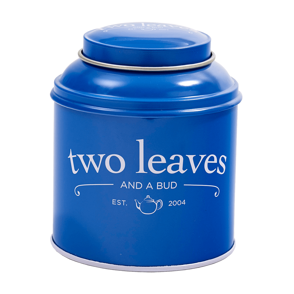 Two Leaves Tea Blue Tin