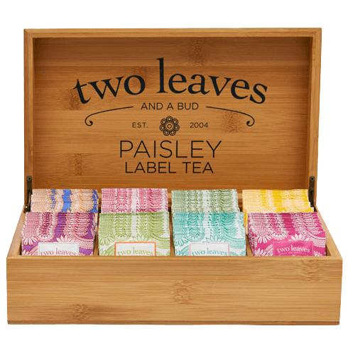 Paisley Label Bamboo Tea Chest