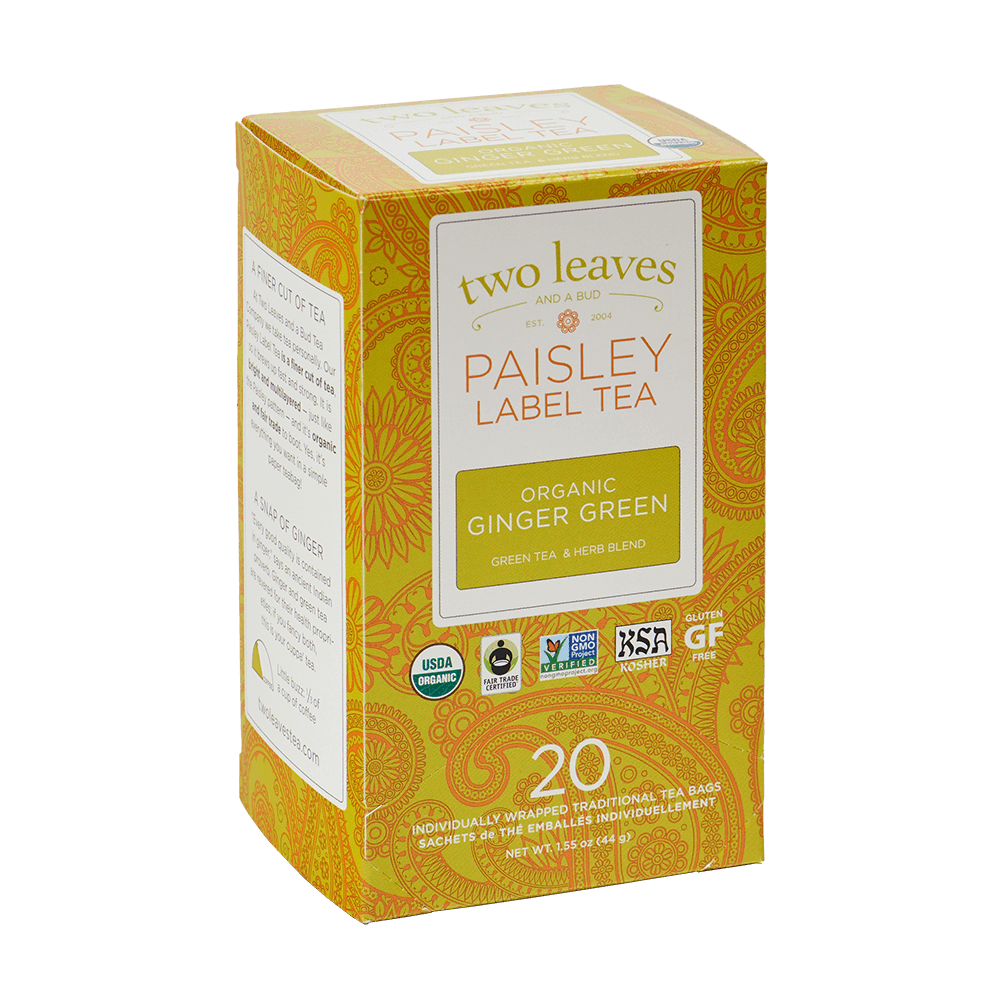 Paisley Organic Ginger Green Retail Box