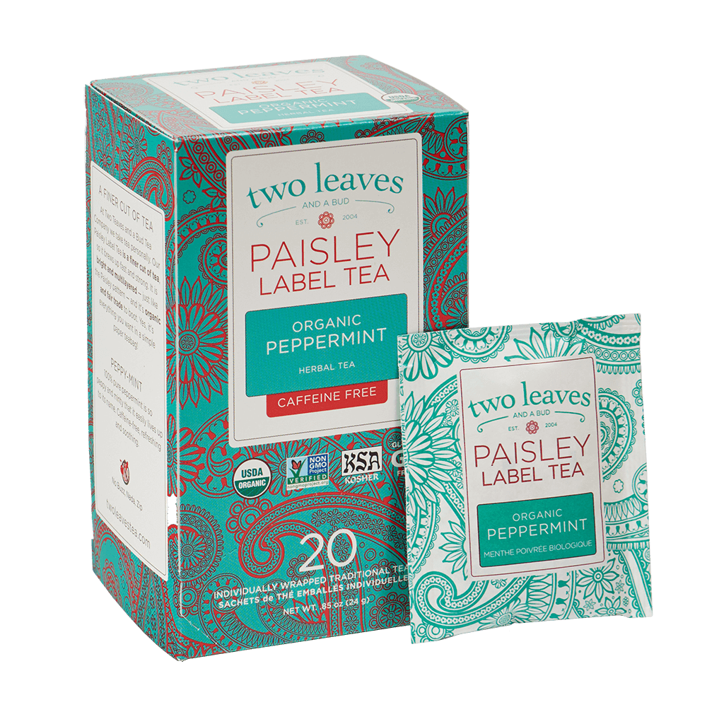Paisley Organic Peppermint and Tea Bag