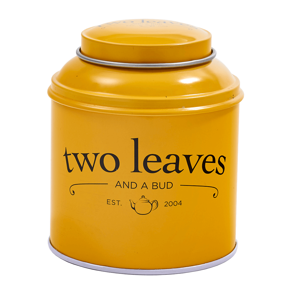 Two Leaves Tea Yellow Tin