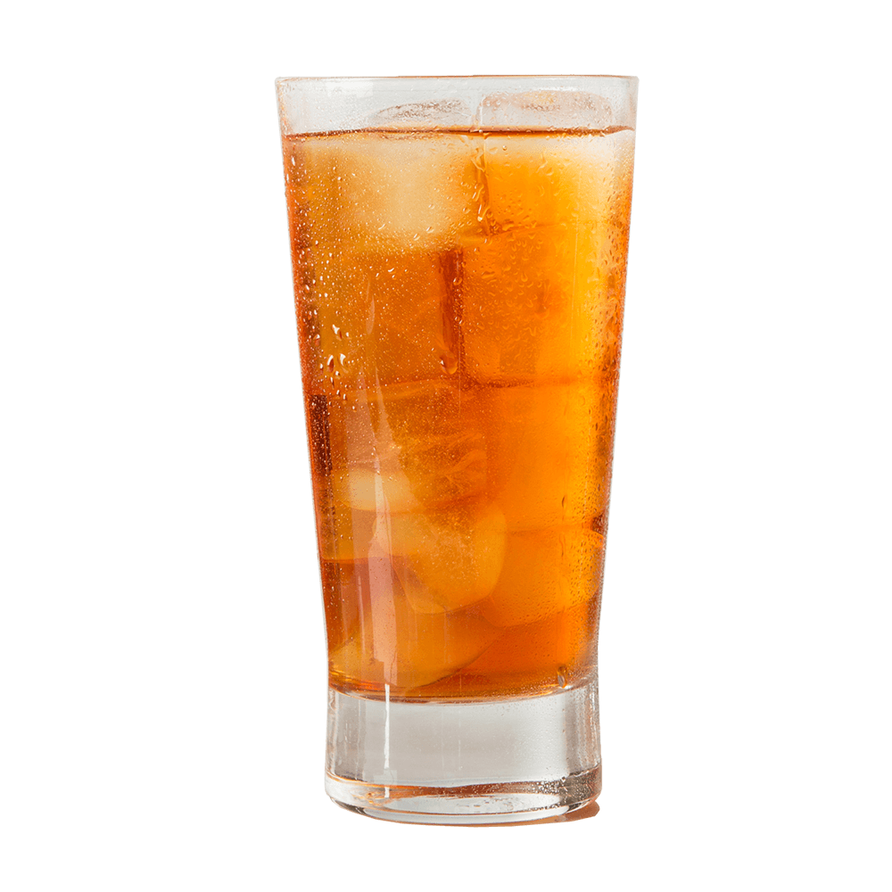 Organic Peach Black Iced Tea Glass
