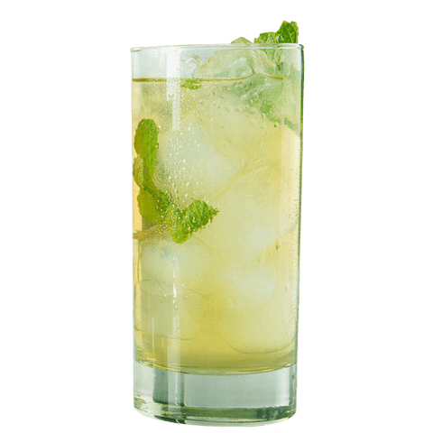 Organic Tropical Green Iced Tea Glass
