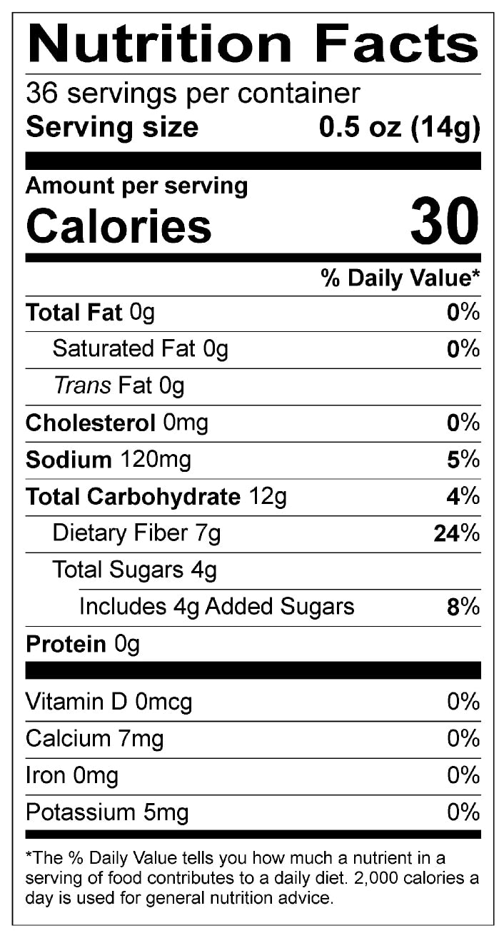 Just Right Chai Nutrition Facts