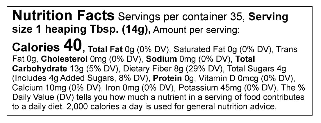 Nice Matcha Nutrition Facts