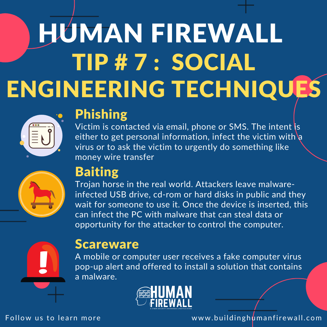 Human Firewall Tip # 7: Social Engineering Techniques