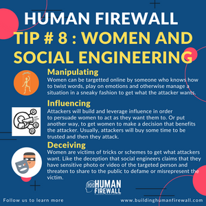 Human Firewall Tip # 8: Women and Social Engineering